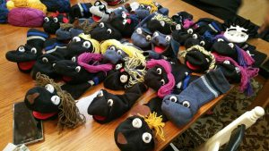 Sock puppet making workshop